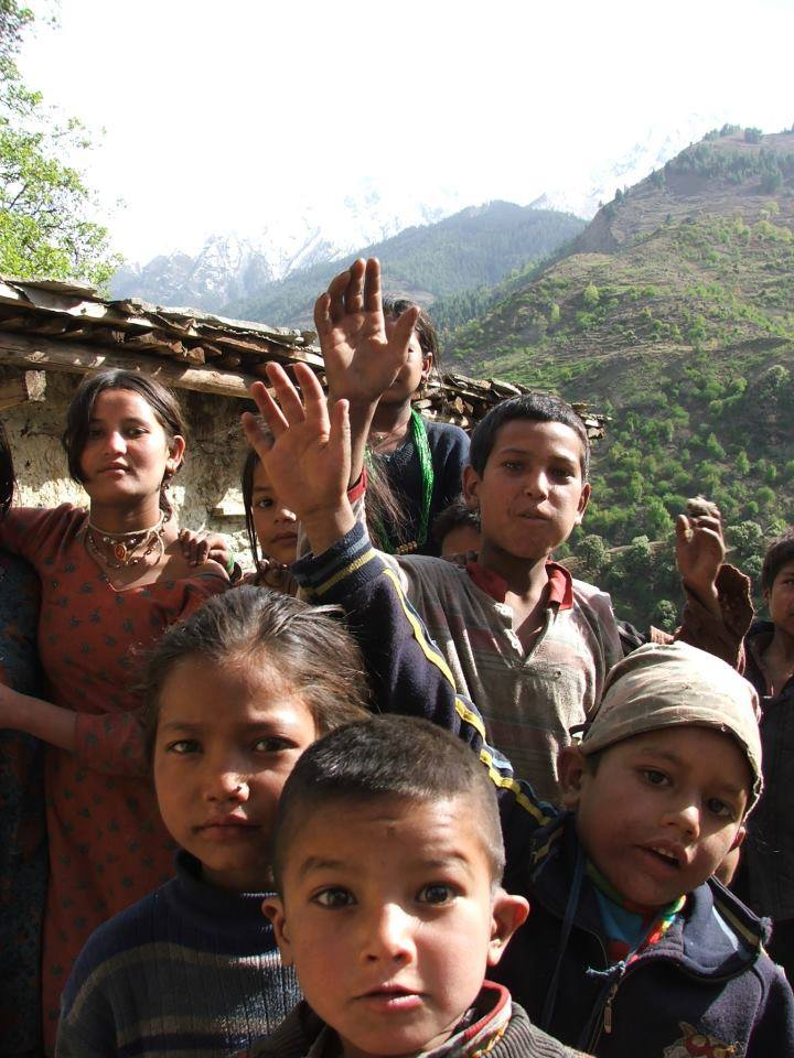 Group of children in Himalayas